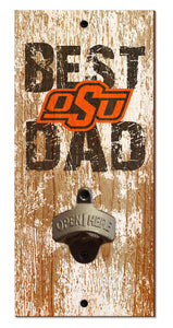 Oklahoma State Cowboys Best Dad Bottle Opener
