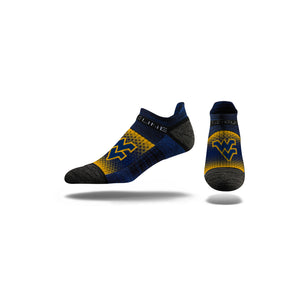 wvu football, wvu basketball, wvu no show socks