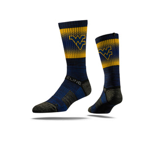 wvu football, wvu basketball, wvu crew socks