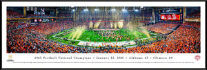 Football memorabilia Alabama framed 2015 National Champions panorama from Sports Fanz