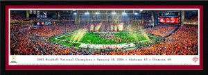Football memorabilia Alabama framed crimson matte 2015 National Champions panorama from Sports Fanz