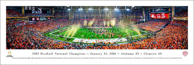 Football memorabilia Alabama unframed 2015 National Champions panorama from Sports Fanz