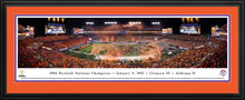 Football memorabilia Alabama framed red-orange matte 2015 National Champions panorama from Sports Fanz