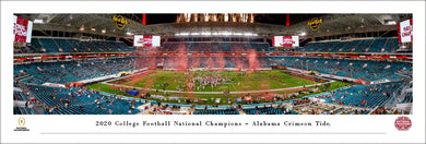 Alabama Crimson Tide 2020 CFP National Champions Panoramic Picture