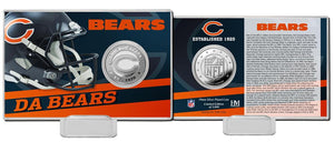 Chicago Bears 2020 Team History Coin Card