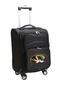 Missouri Tigers Luggage Carry-On 21in Spinner Softside Nylon