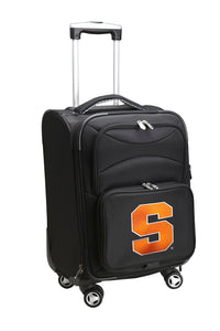 Syracuse Orange Luggage Carry-On 21in Spinner Softside Nylon