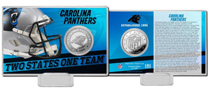Carolina Panthers 2020 Team History Coin Card