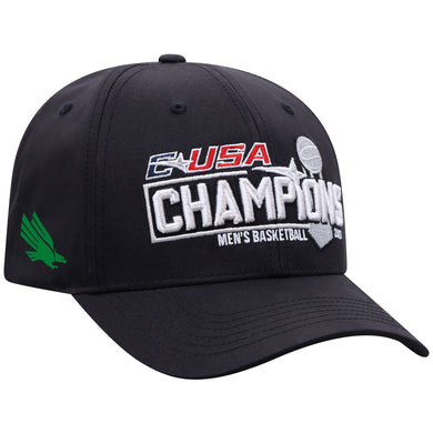 North Texas Mean Green 2021 CUSA Basketball Tournament Champions Locker Room Hat