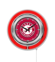 "NCAA fan gear Alabama Crimson Tide 15"" neon clock from Sports Fanz"