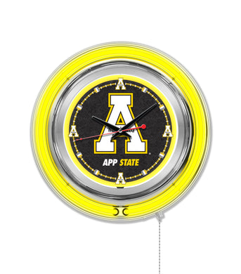 appalachian state mountaineers football, appalachian state basketball, appalachian state neon clock