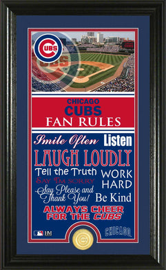 Chicago Cubs Fan Rules Supreme Bronze Coin Photo Mint