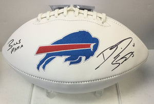 "David Sills Buffalo Bills Autographed Bills Logo Football ""Bills Mafia"""