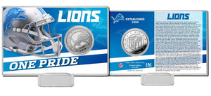 Detroit Lions 2020 Team History Coin Card