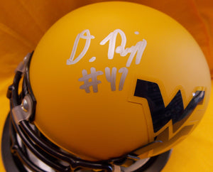 wvu football, doug rigg autograph