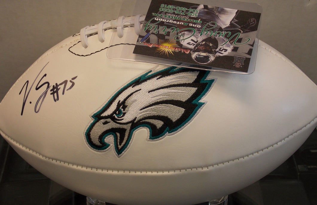 Vinny Curry Philadelphia Eagles Signed Logo Football