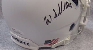 Wendell Small West Virginia Mountaineers Signed White Mini Helmet JSA