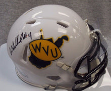 wvu football, wendell smallwood autographed mini helmet