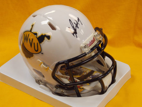 KJ Dillon West Virginia Mountaineers Signed Retro Throwback Mini Football Helmet