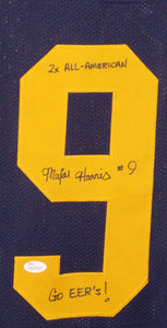 Major Harris Signed College Style Jersey w/Inscription