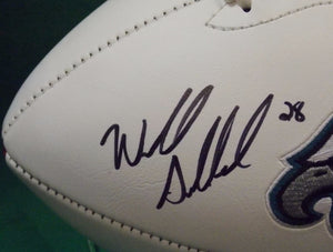 Wendell Smallwood Signed Philadelphia Eagles Logo Football JSA Fly Eagles Fly