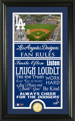 Los Angeles Dodgers Fan Rules Supreme Bronze Coin Photo Mint