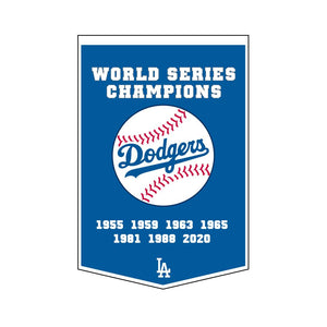 "Los Angeles Dodgers Dynasty Champions Wool Banners - 24""x36"""