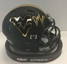 David Long West Virginia Mountaineers Signed Blackout Mini Helmet