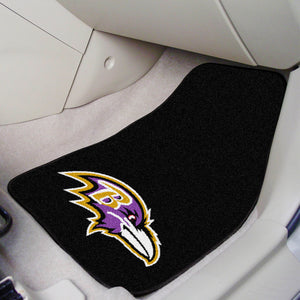 "Baltimore Ravens 2-piece Car Mats - 18""x27"""