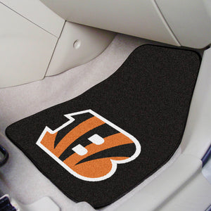 "Cincinnati Bengals  2-piece Car Mats - 18""x27"""