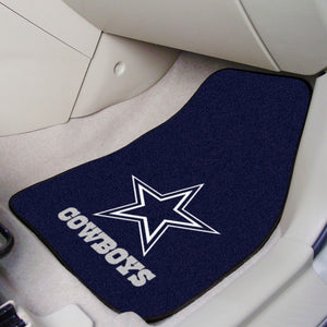 "Dallas Cowboys  2-piece Car Mats - 18""x27"""