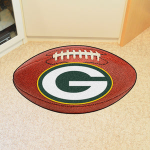 "Green Bay Packers Football Rug - 20.5""x32.5"""