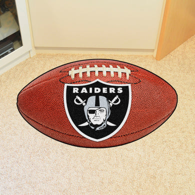 Oakland Raiders Football Rug - 20.5