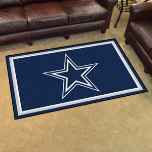 Dallas Cowboys Plush Area Rugs -  4'x6'