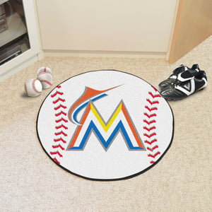 Miami Marlins Baseball Mat - 27""