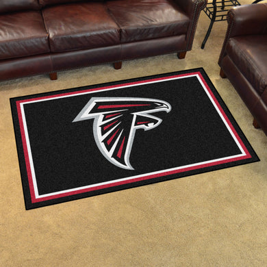 Atlanta Falcons Plush Area Rugs -  4'x6'