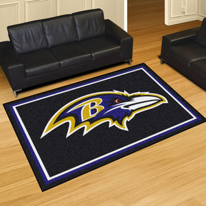 Baltimore Ravens Plush Area Rugs -  5'x8'