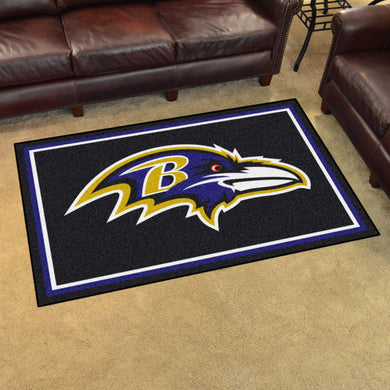 Baltimore Ravens Plush Area Rugs -  4'x6'