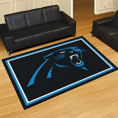 Carolina Panthers Plush Area Rugs -  5'x8'