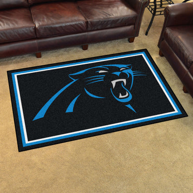 Carolina Panthers Plush Area Rugs -  4'x6'