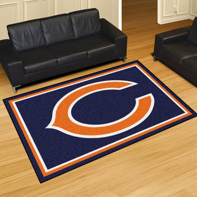 Chicago Bears Plush Area Rugs -  5'x8'