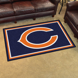 Chicago Bears Plush Area Rugs -  4'x6'