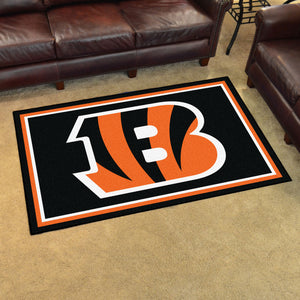 Cincinnati Bengals Plush Area Rugs -  4'x6'