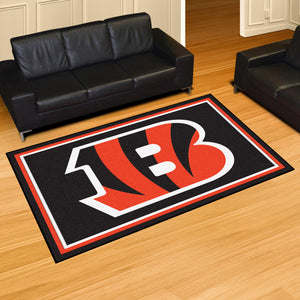 Cincinnati Bengals Plush Area Rugs -  5'x8'