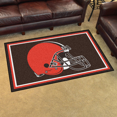 Cleveland Browns Plush Area Rugs -  4'x6'