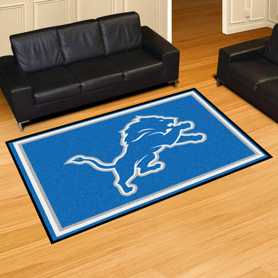 Detroit Lions Plush Area Rugs -  5'x8'