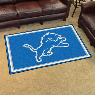 Detroit Lions Plush Area Rugs -  4'x6'