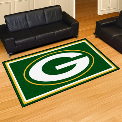 Green Bay Packers Plush Area Rugs -  5'x8'