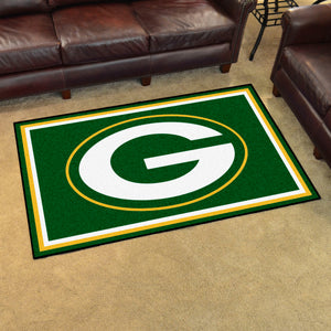Green Bay Packers Plush Area Rugs -  4'x6'