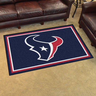 Houston Texans Plush Area Rugs -  4'x6'